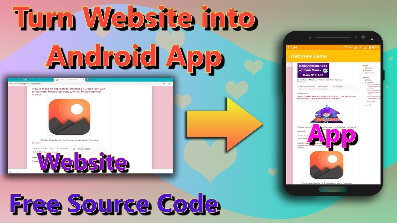 Convert website to android app in Android Studio |Convert website to mobile app free| Website to apk