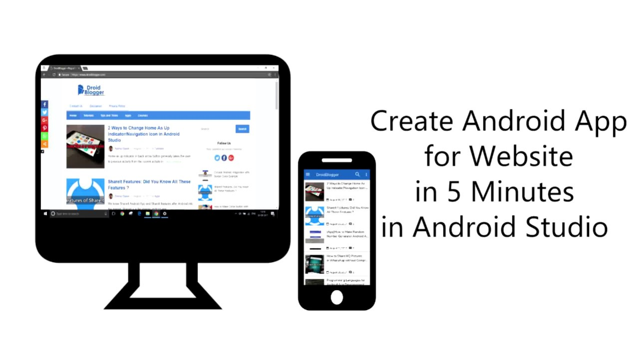 How to Convert Website/Blog into Android App in 5 minutes in Android Studio