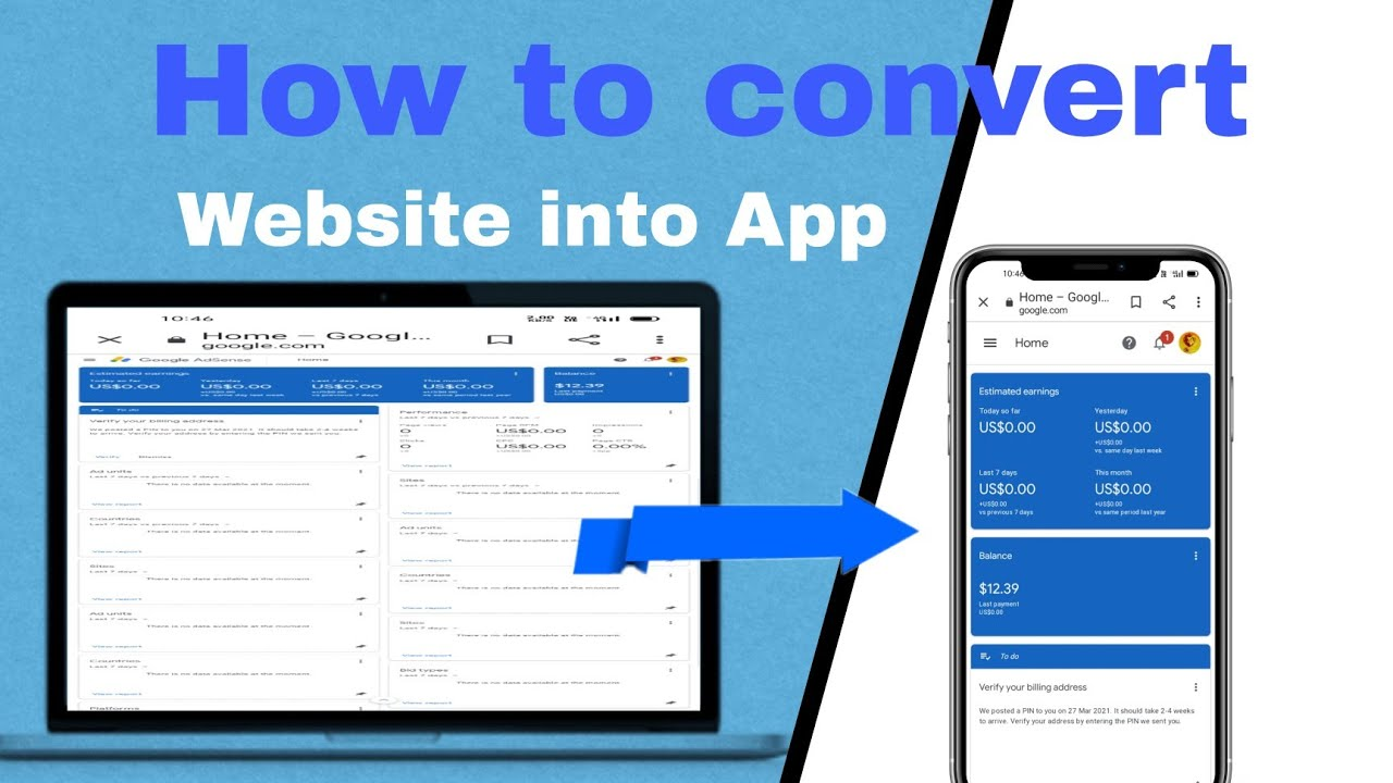 how to convert website into android app || how to create app with coding || Ravesh Chavan