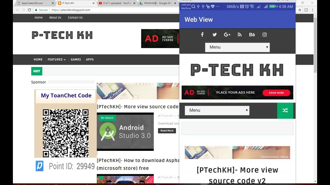 [PTechKH]- Convert website to android app with Android Studio