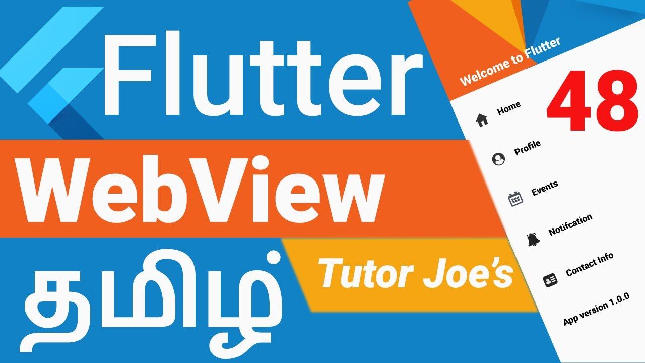 Webview Widget in Flutter | Convert Website to Mobile App | Complete Flutter Tutorial in Tamil