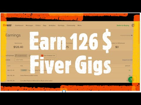 How to make Gig on Fiver and earn $