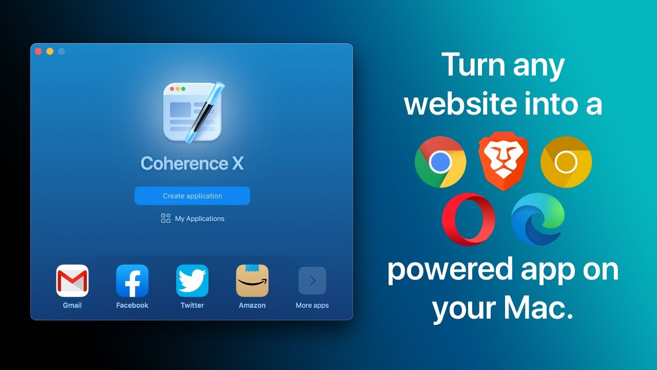 Turn websites into Chrome-powered apps with Coherence X4 for macOS | Overview