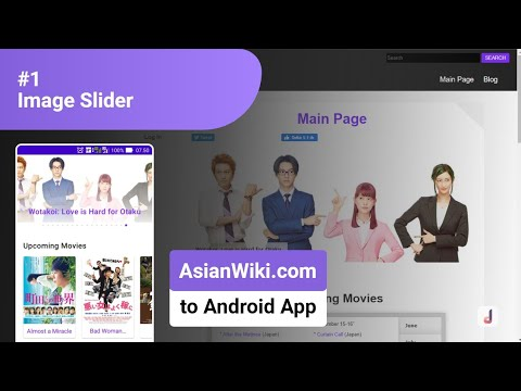 #1 Image Slider – Convert Website (AsianWiki.com) into Android App