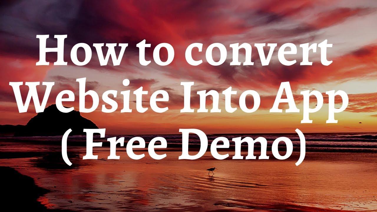 How To Convert Website Into App – Secret Tip   Free Demo  Muskan Diwan