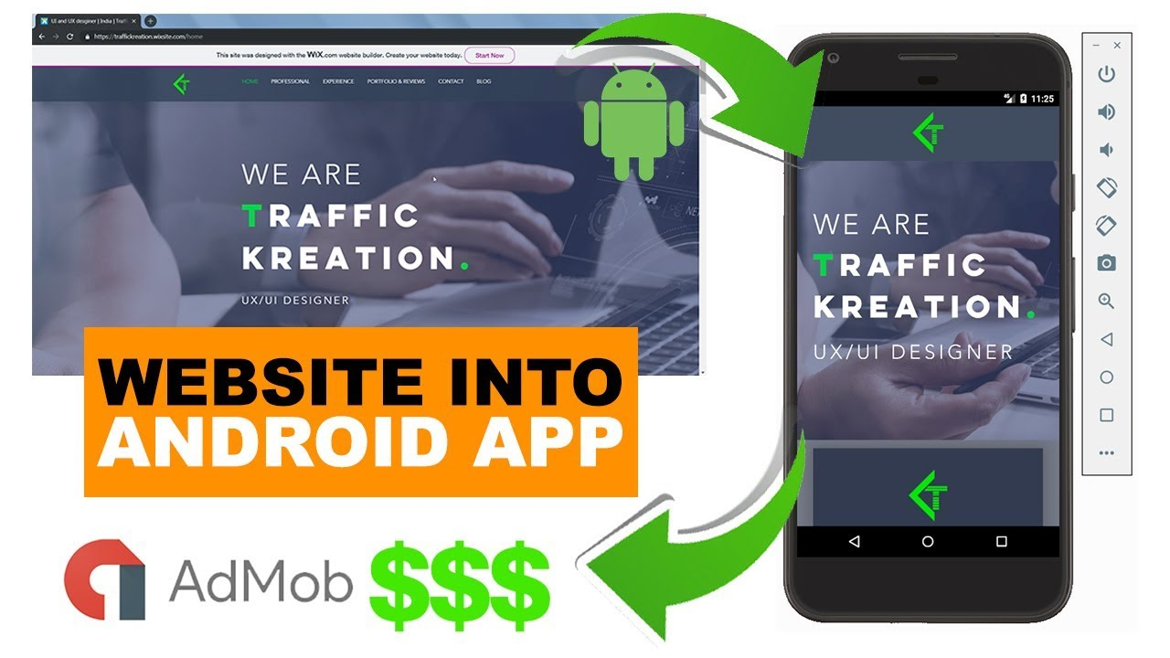 Convert any Website into Android App in 2 MINS | Download FREE Project File | Make money online $$$