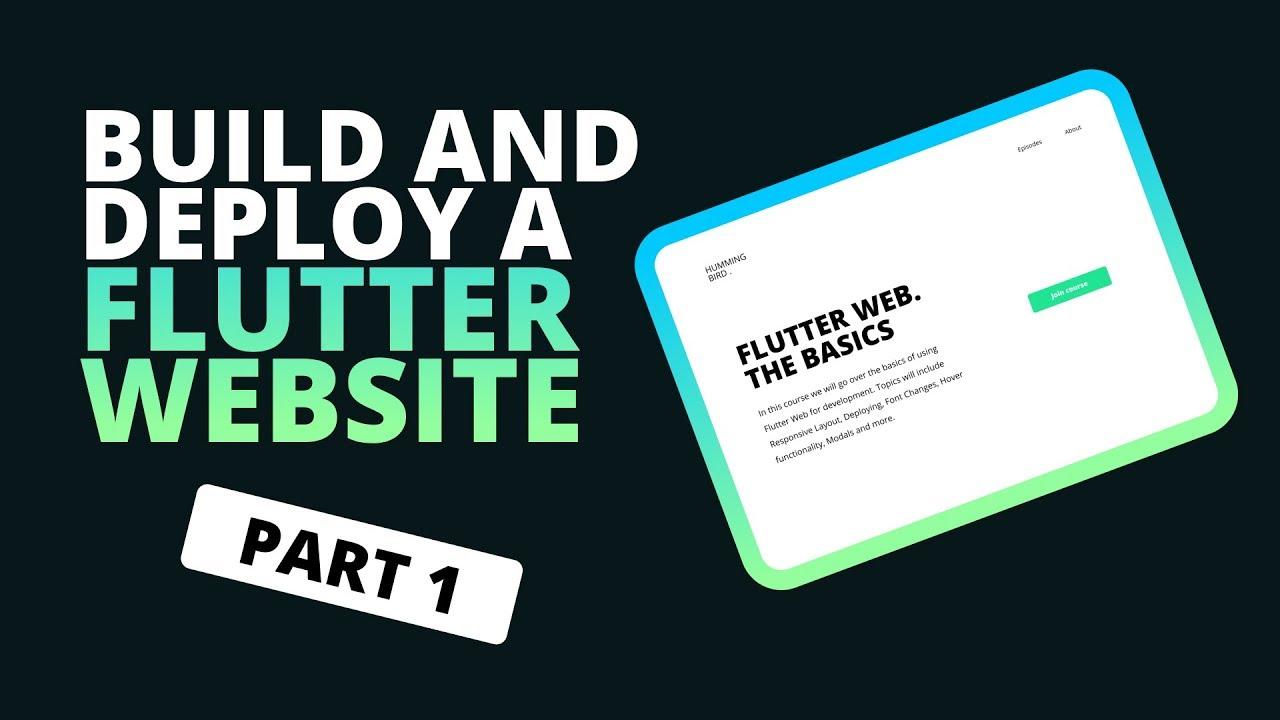 Building a Website In Flutter – Flutter Web Beginners Tutorial