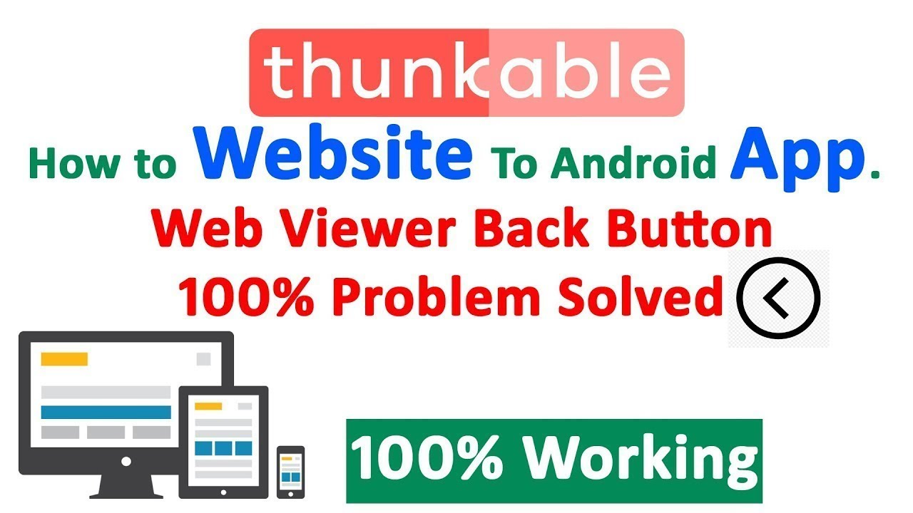 Convert Website to Android App From thunkable   Thunkable Tutorial Bangla   Web Viewer Back Button