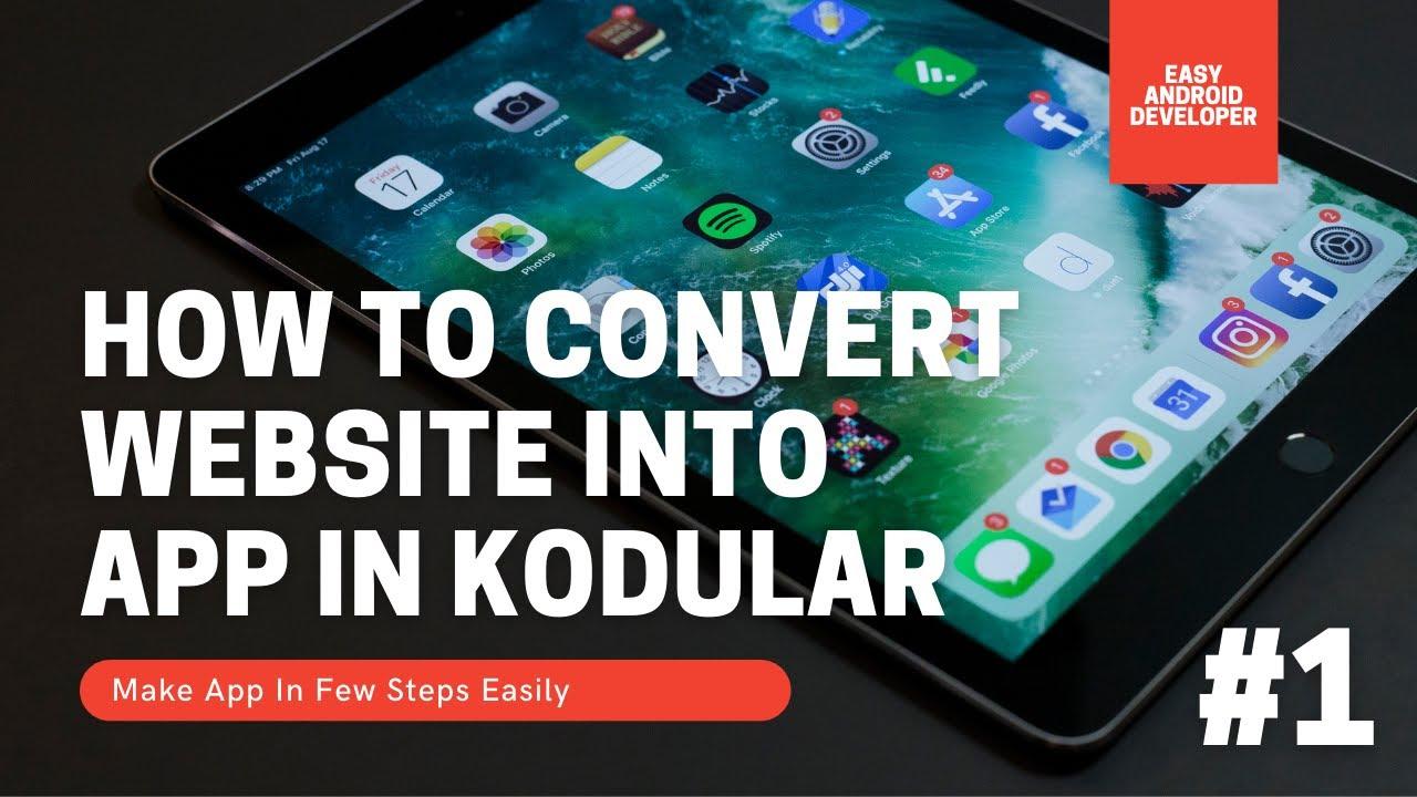 How To Convert Website To App In Kodular | Website Ko App ME Kese Badale | Kodular Tutorial #1