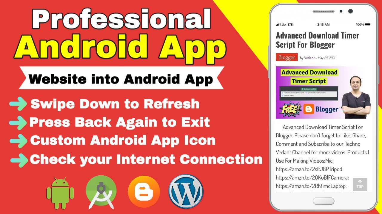 How to Convert your Website into Professional Android App Using Android Studio