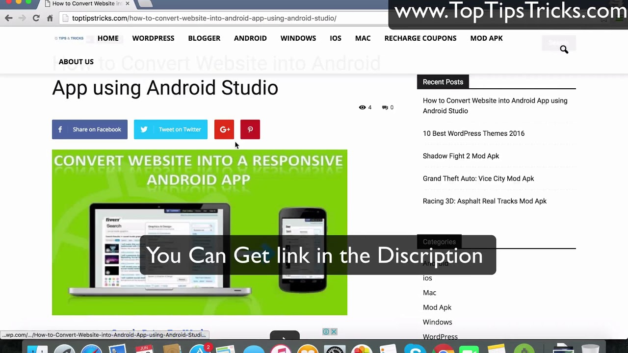 How to Convert Website into Android App using Android Studio