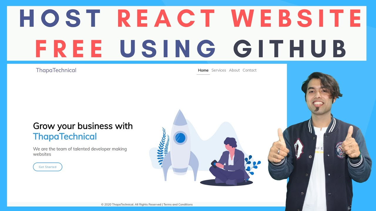 How To Host React JS Website Live for Free using GitHub in 2020