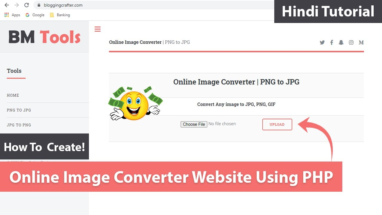 How To Create a Online Image Converter Website Using PHP (PNG to JPG, JPG to GIF & More)