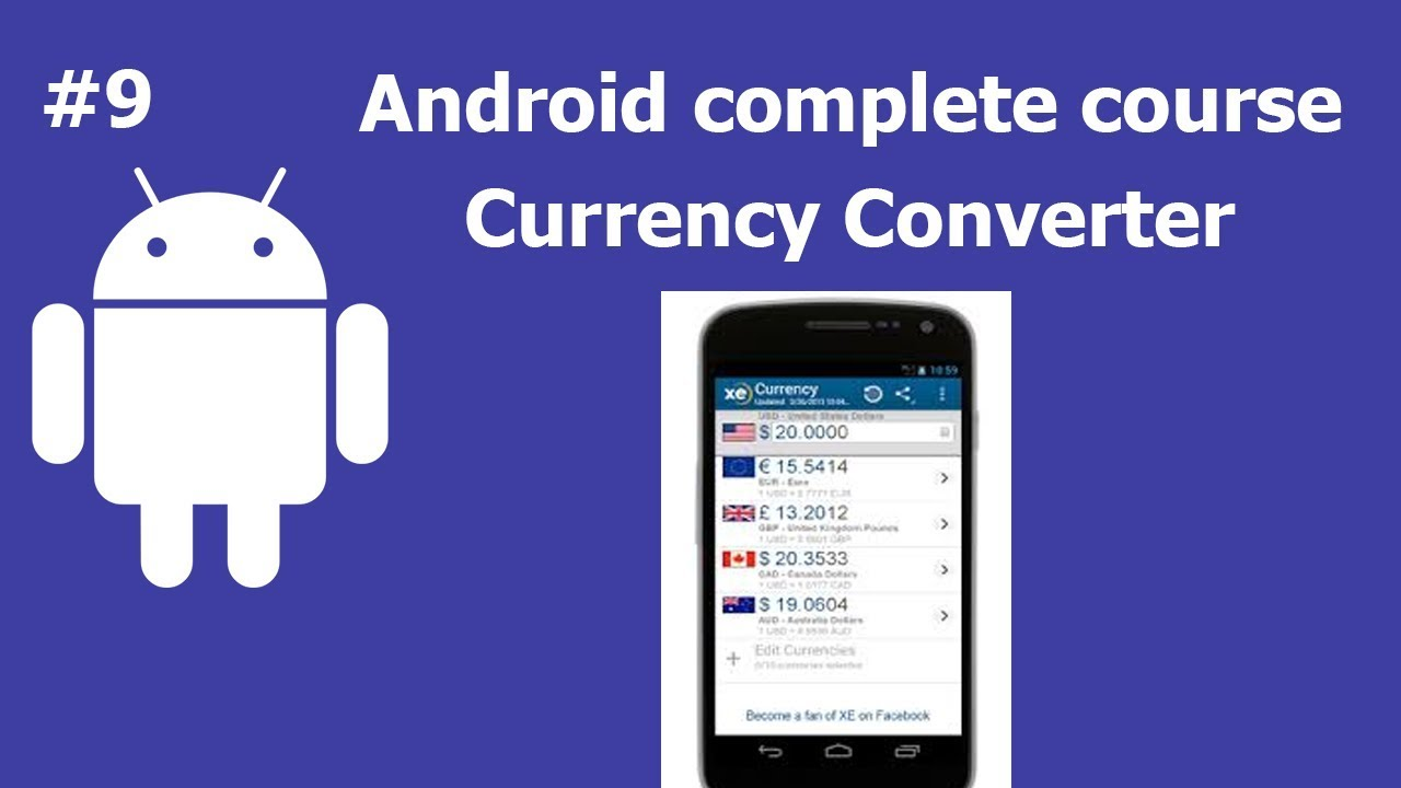 Currency Converter App   Complete Android Development Course For Beginners
