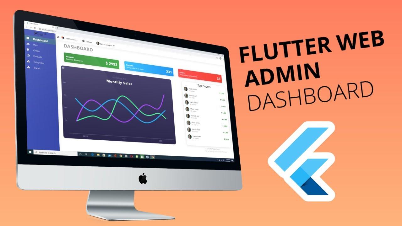 Flutter Web Shopping App Admin Dashboard (part 1)