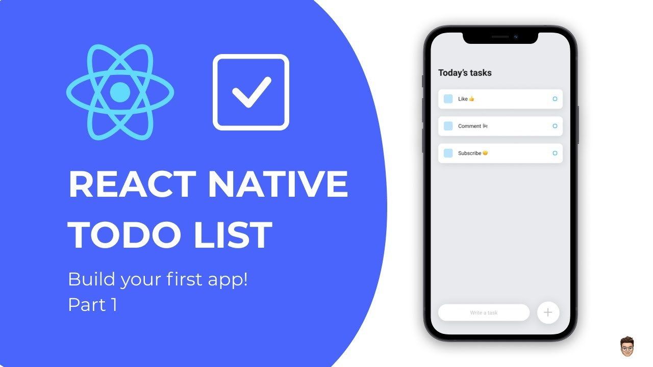 👉 Build your first React Native app – Todo List Tutorial Part 1