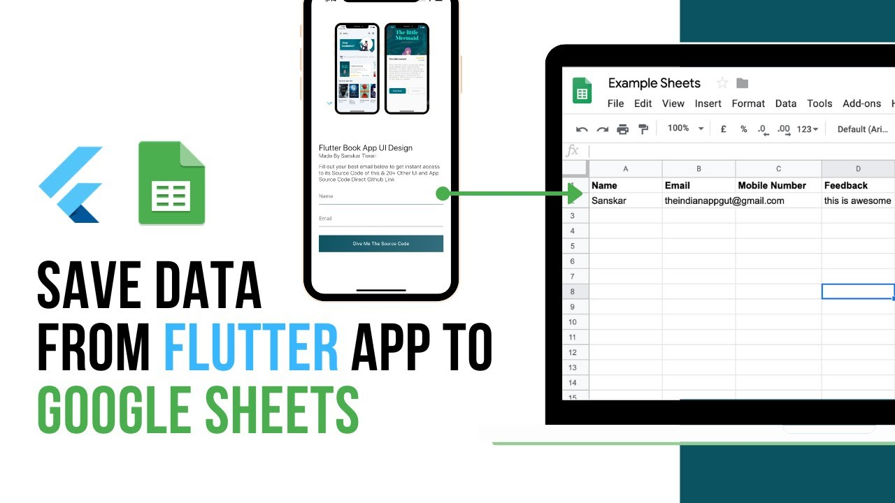 Learn How to Save Data from Flutter App to Google Sheets | Flutter Tutorial For Beginners