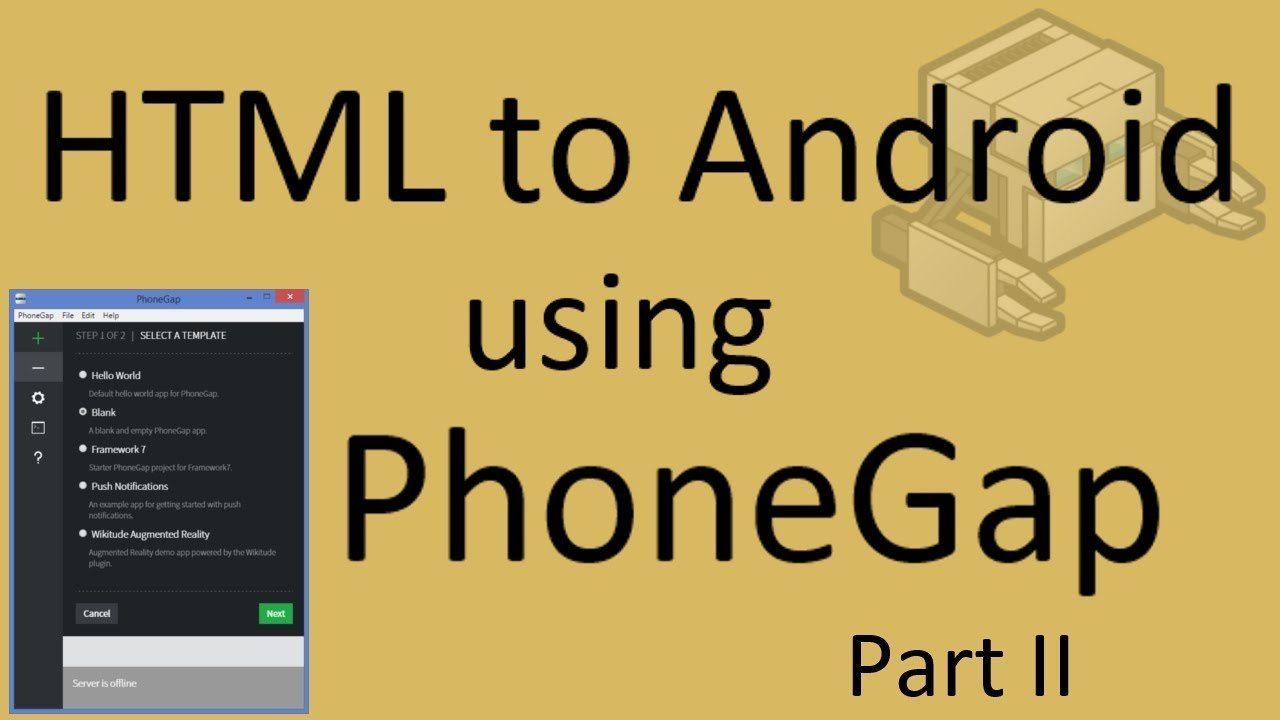 How to convert html to android using Phonegap (part 2) | phonegap tutorial