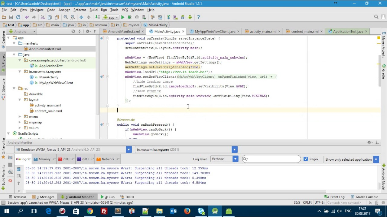 Convert Website to Professional Android App using Android Studio