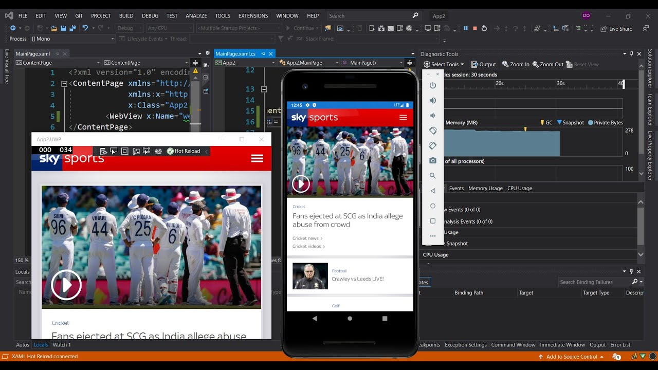 WebView in Xamarin.Forms using Visual Studio 2019 | Getting Started