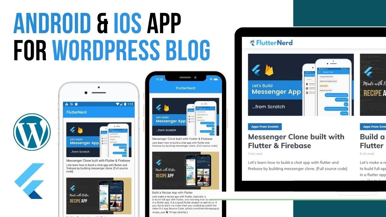 Build Android & IOS App For WordPress Blog with Flutter