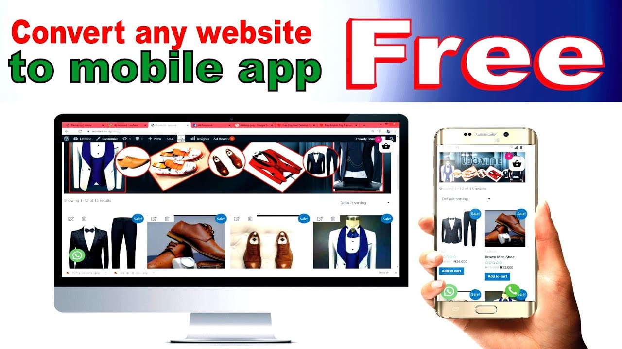 Simplest way to convert website to mobile app for free