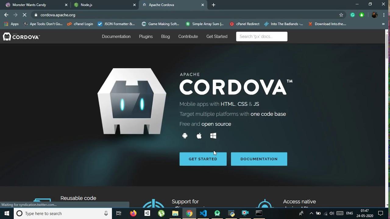 HTML games to APK – Nodejs Apache Cordova