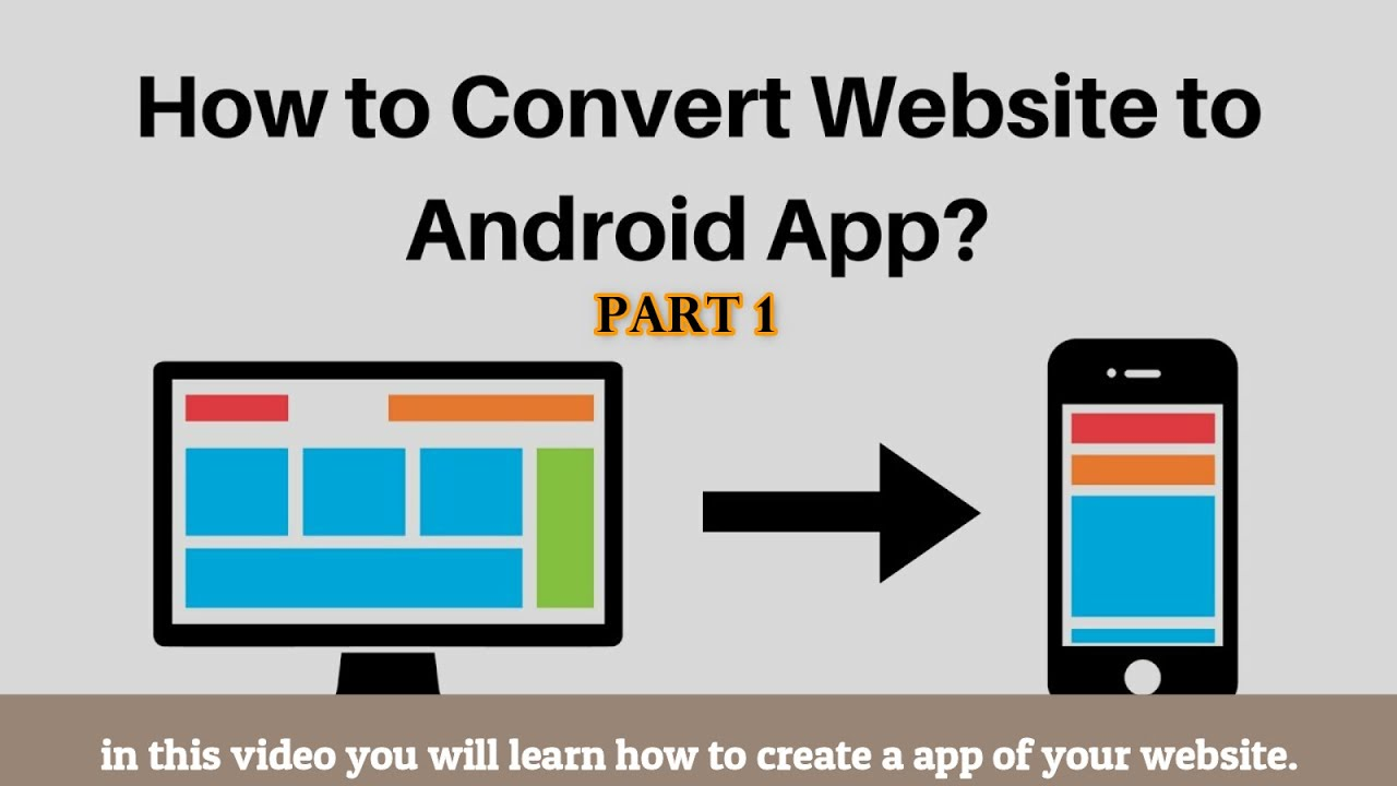 HOW TO CONVERT WEBSITE TO ANDROID APP PART 1