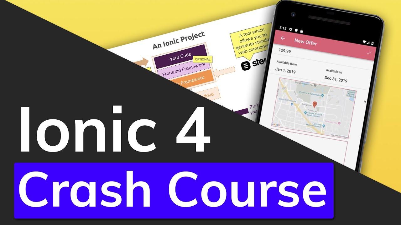 Ionic 4 & Angular Tutorial For Beginners – Crash Course
