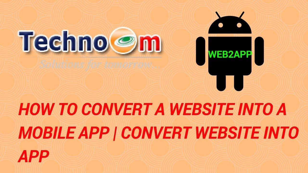 How to Convert a Website into a Mobile App   convert website into app