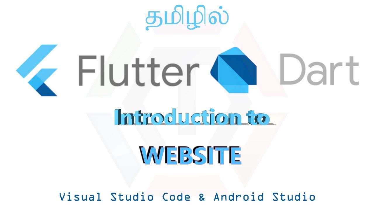 Flutter create website | Explained Tamil | Official Google Flutter widget [Flutter tamil]