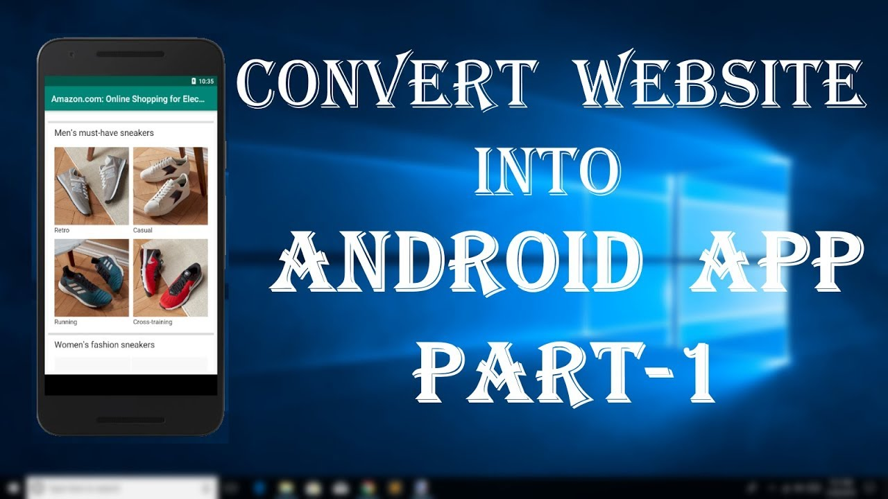 Convert website into android app part 1 [Android studio tutorial]