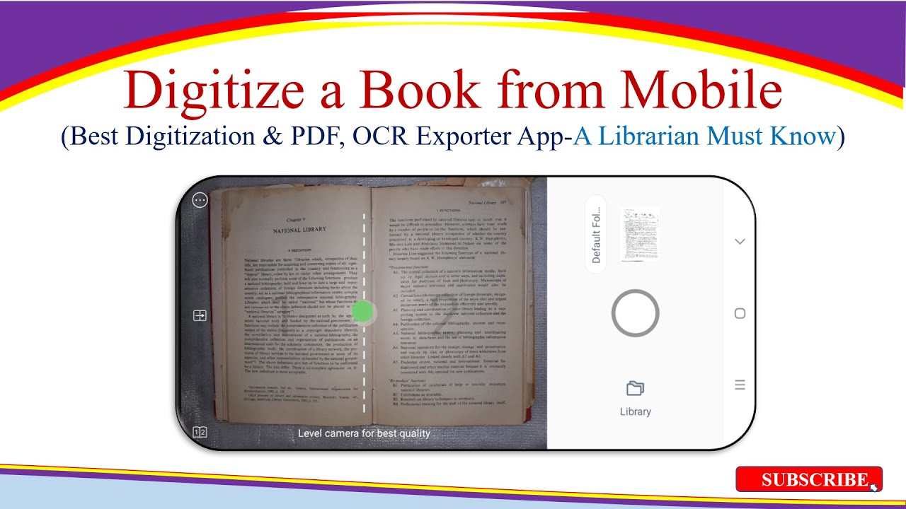 Digitize a Book from Mobile | Best Digitization, PDF & OCR Converter App- A Librarian Must Know
