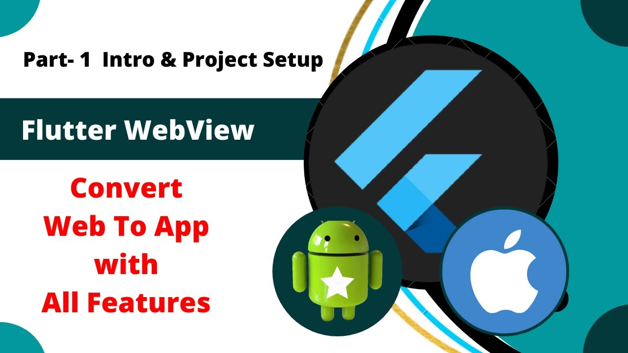 Flutter WebView tutorials || Convert Websites to Flutter App || How to create WebView in Flutter