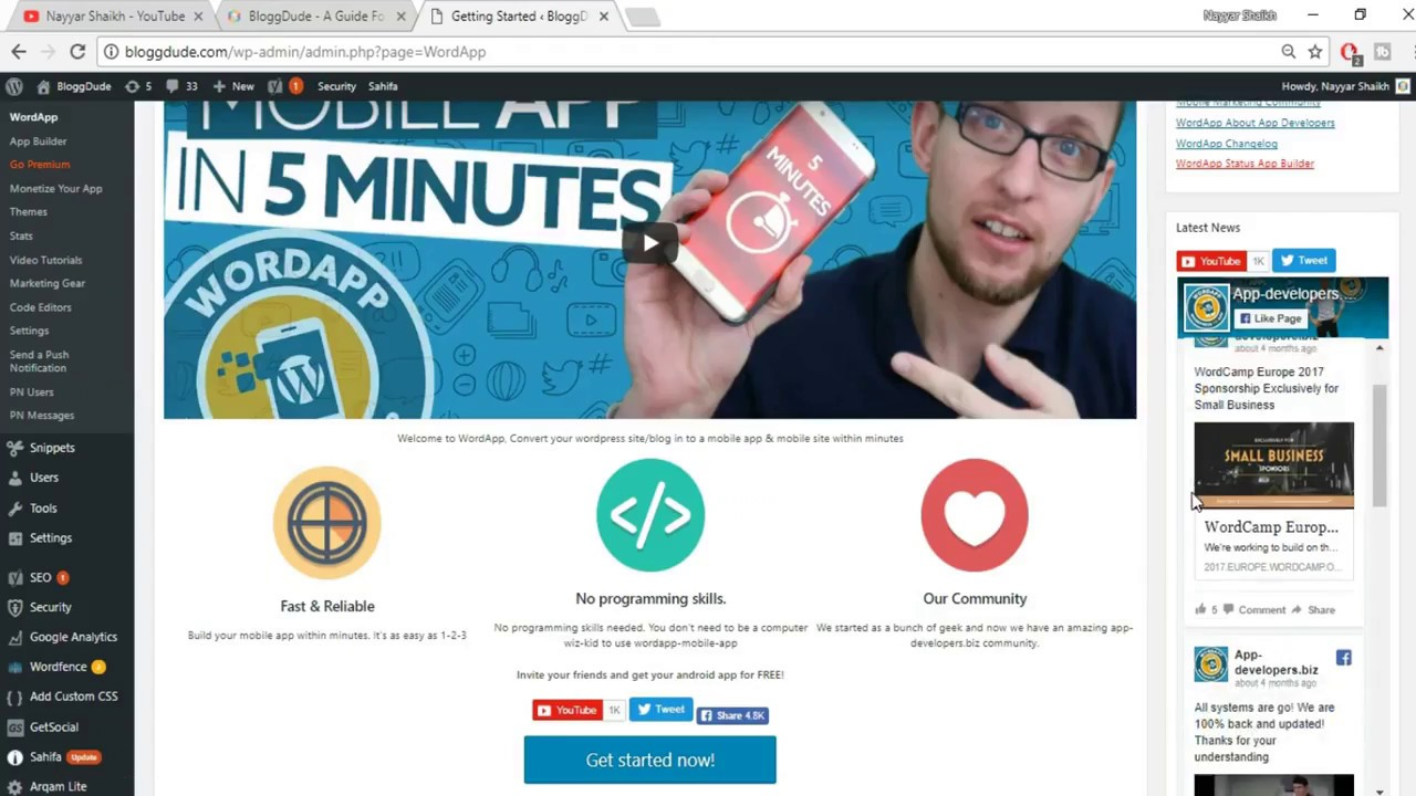 How to Convert a WordPress Website to a Mobile App ( In 10 Minutes )