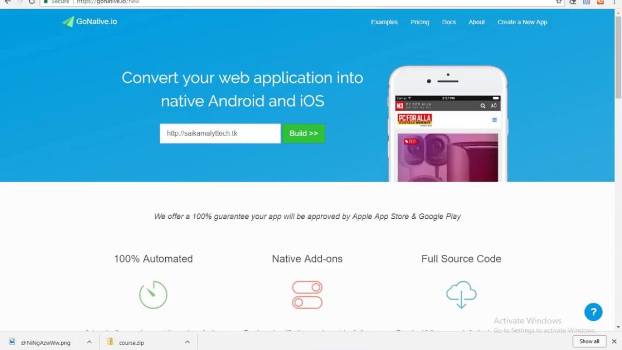 #5 | Convert your website into an app | SaikamalYT Tech.