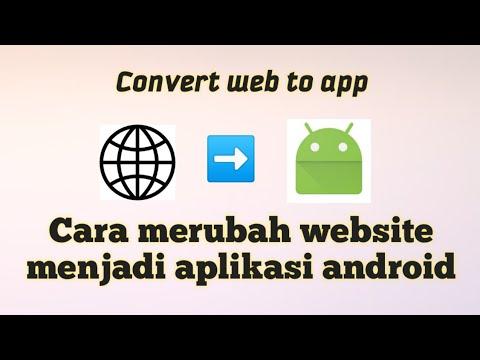 Cara merubah website menjadi aplikasi|Convert website to android app/apk
