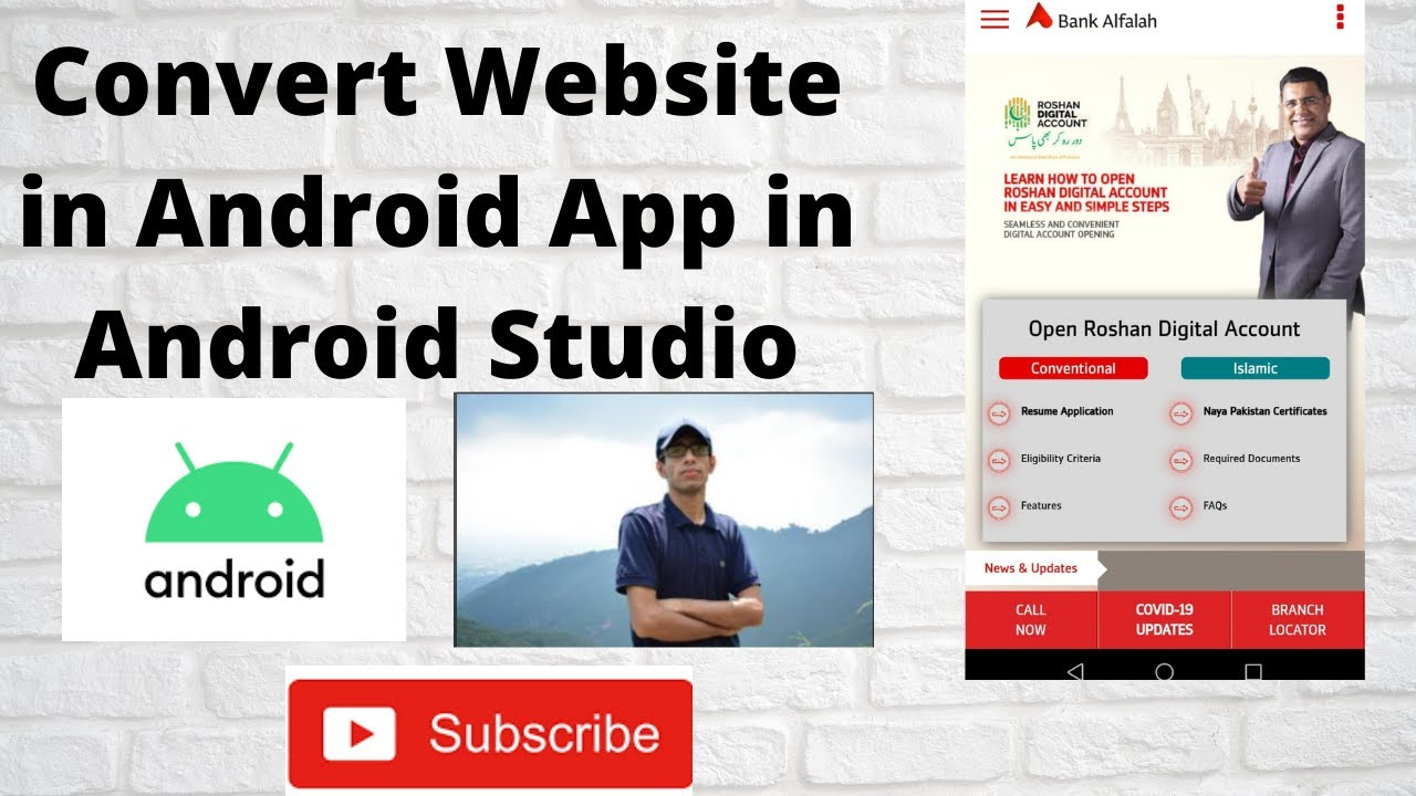 How to Convert Website in android app in android studio|android studio