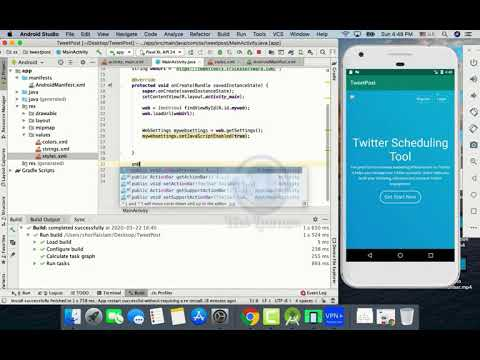 Remove Action Bar    How to Convert Website Into an Android App Part 2    Android Studio    2020