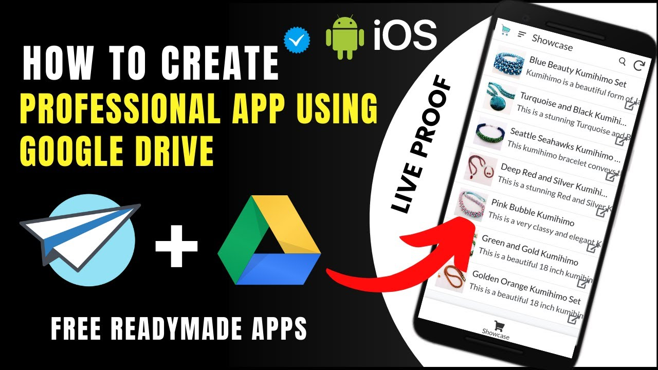 How to Make a Free Android/IOS App Using Google Drive | Convert Your Google Sheets Into Apps