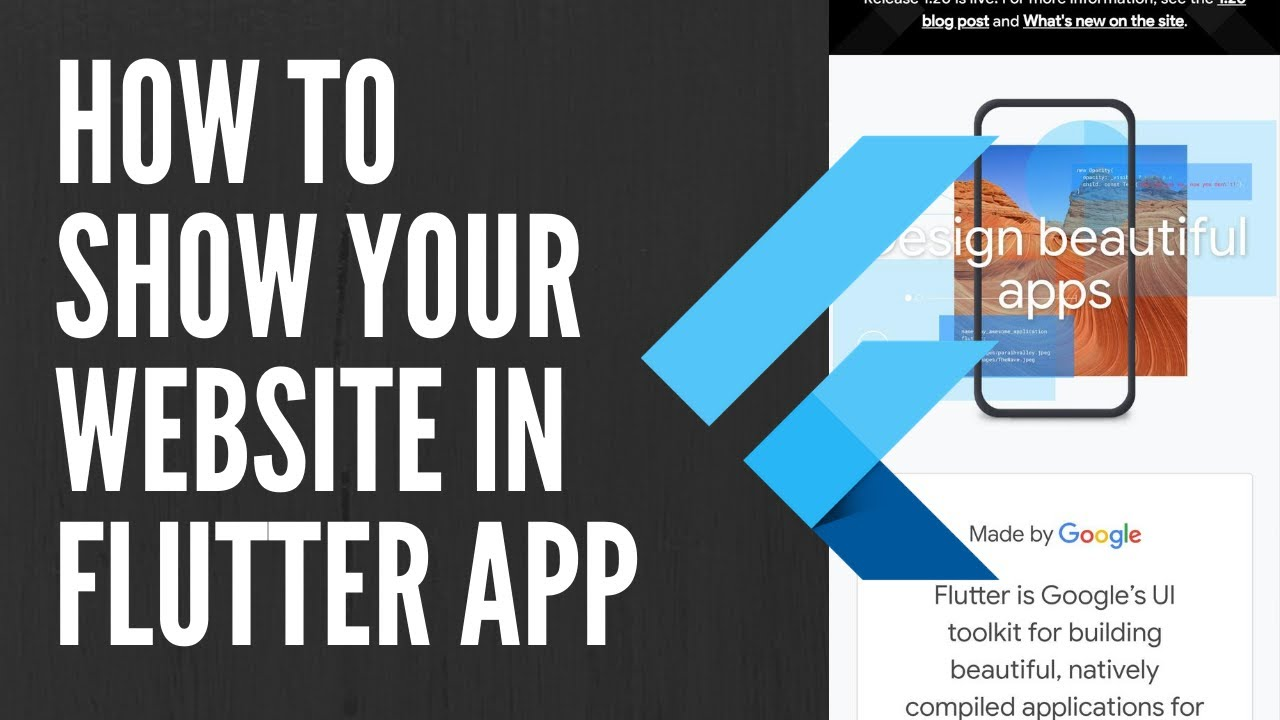 How to show website in Flutter App? || Android App || iOS App