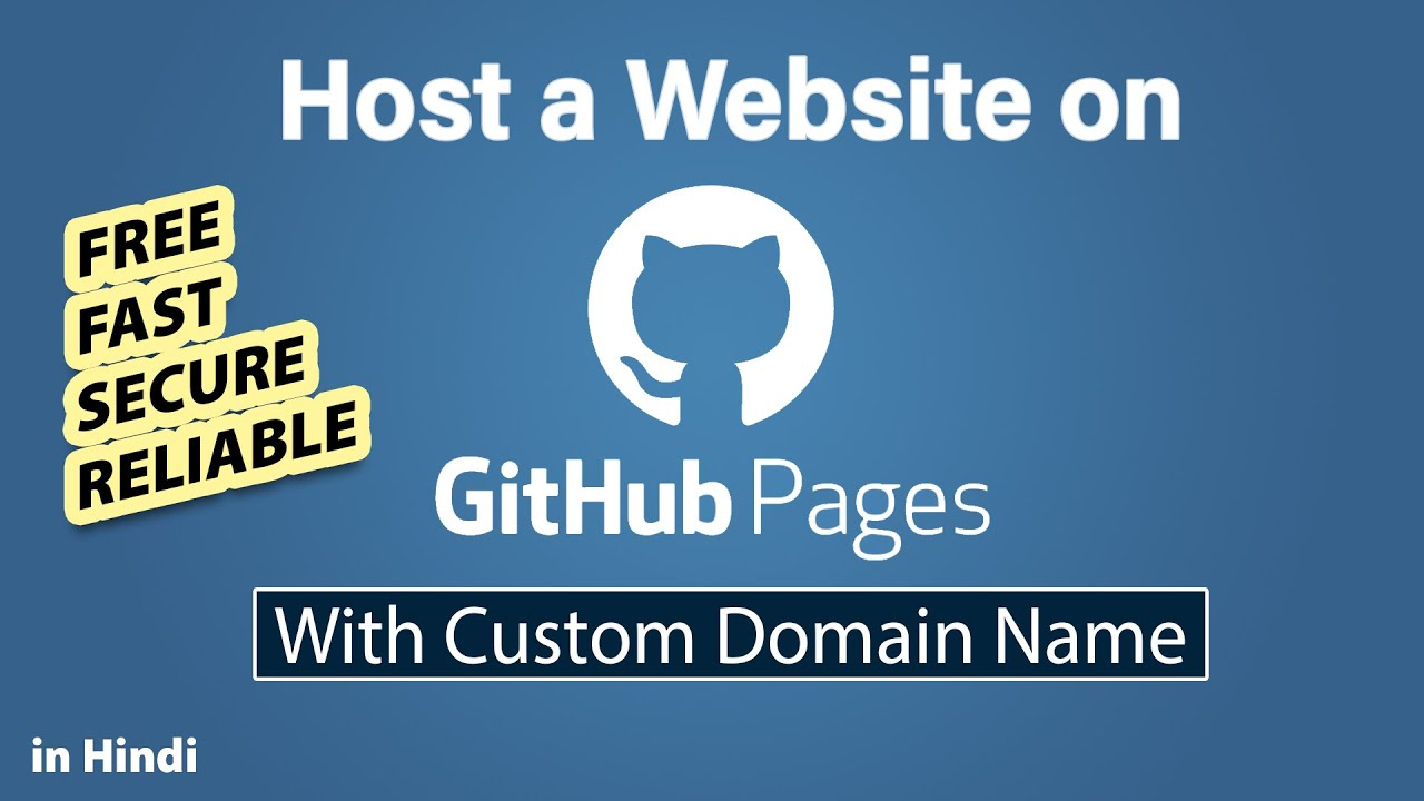How to host a website on GitHub with custom domain [Hindi]