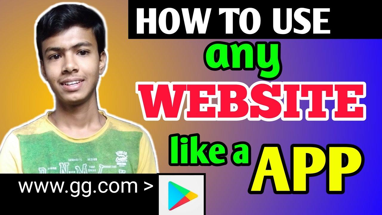 HOW TO USE WEBSITE LIKE a APP || #Youtricks