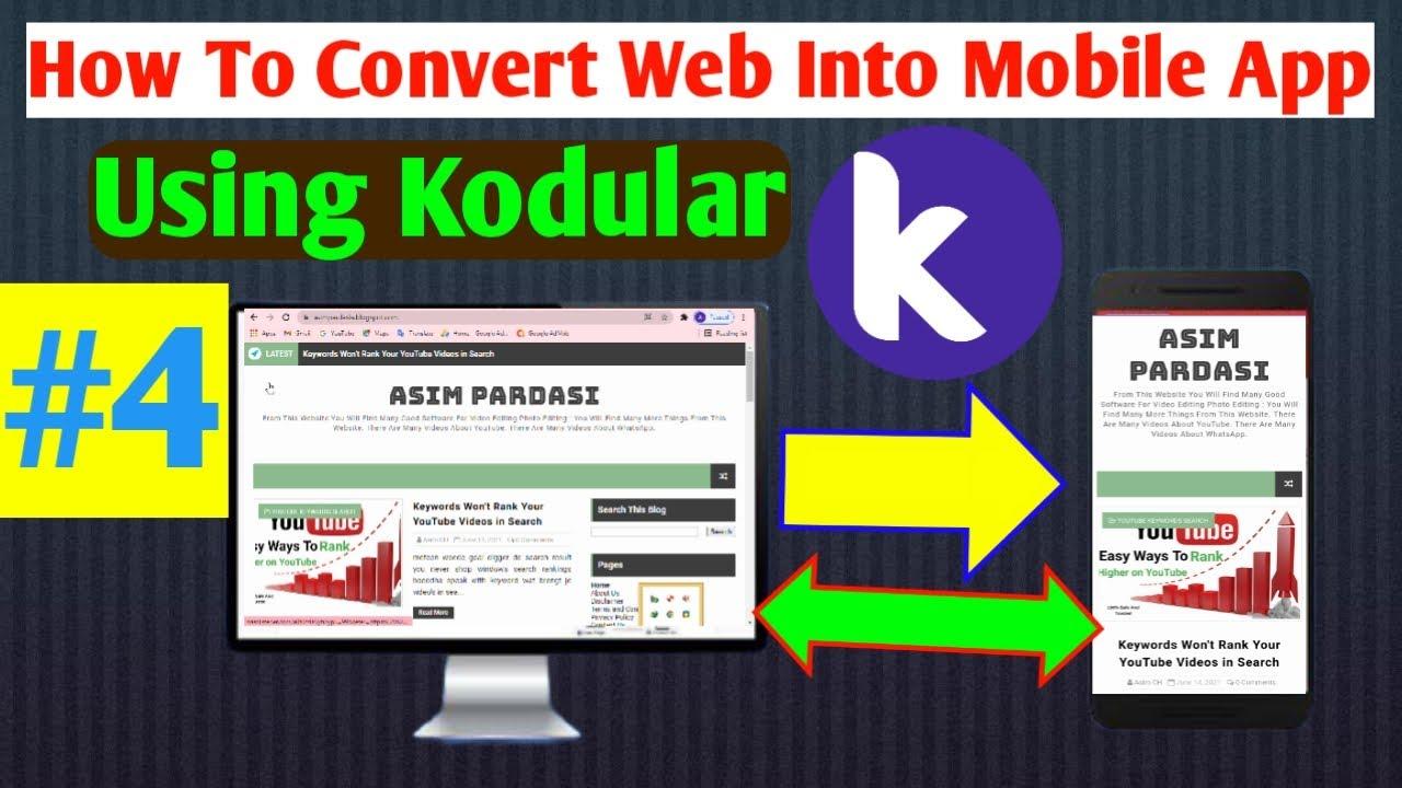 How To Convert Any Website Into App Free convert website to app Using Kodular  #2Beginner Tutorial