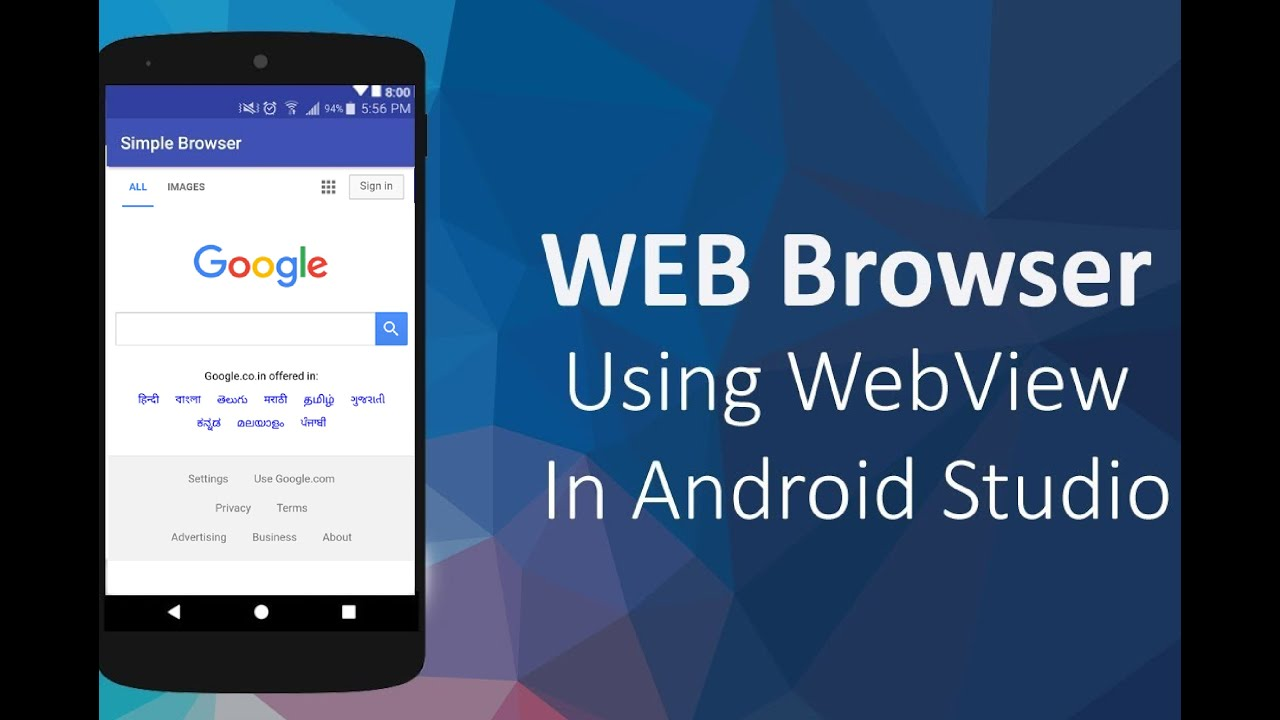 WebView in Android Tutorial How to Convert Website into Android App How to use a Webview in android