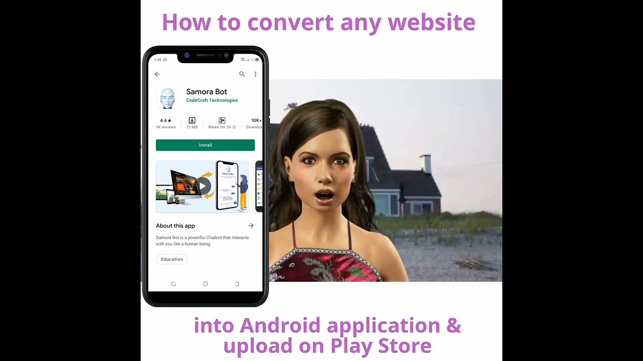 How To Convert Website Into Android Application Using Android Phone