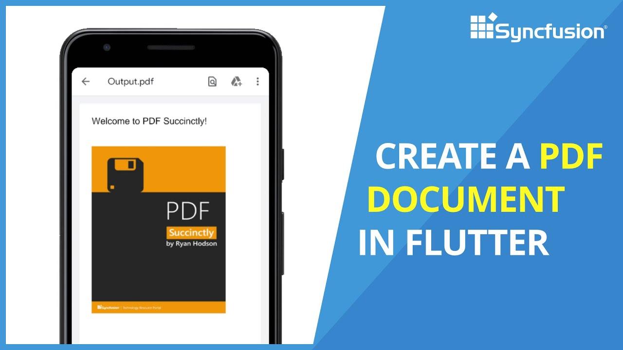 Create a PDF Document in Flutter