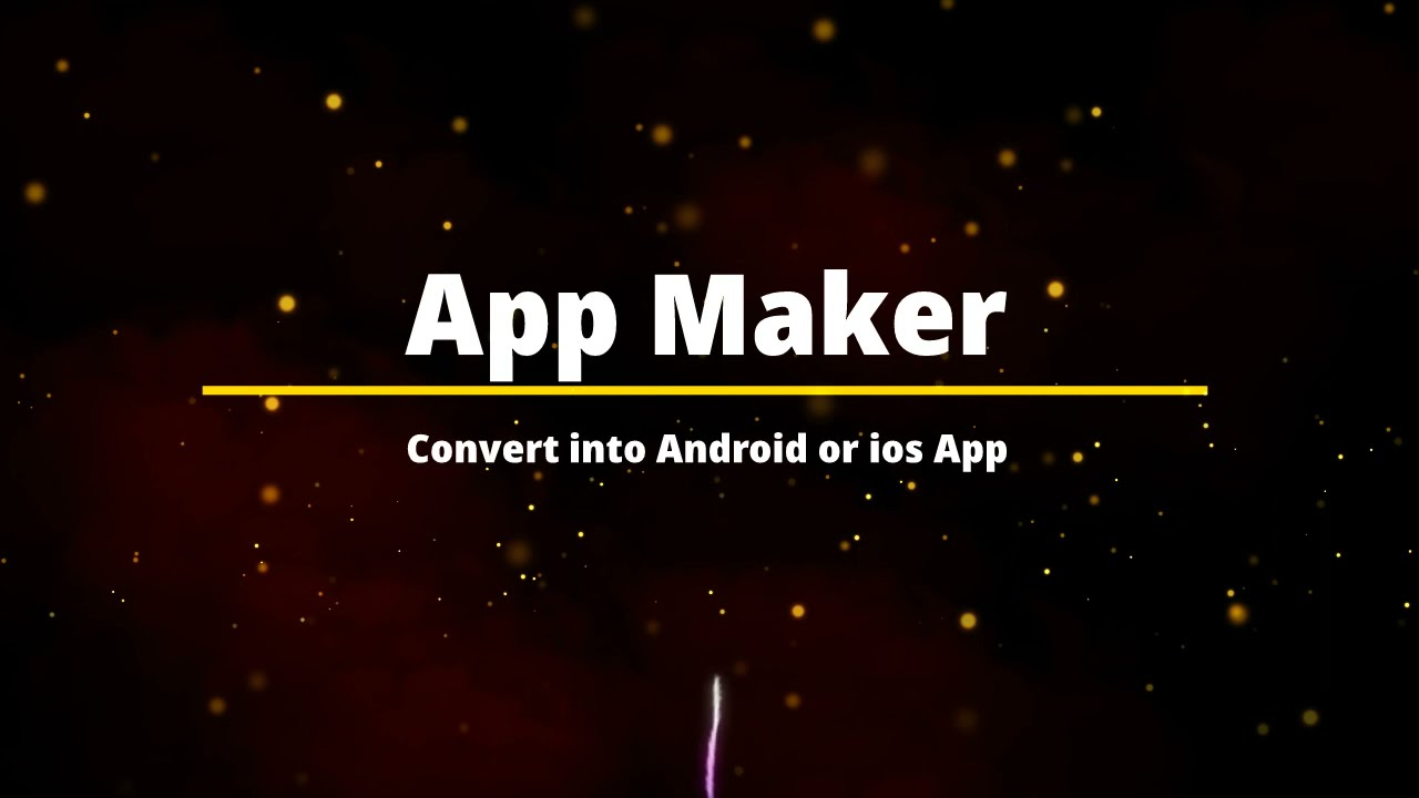 App Maker | Convert Website to Android or IOS App | I Convert my website into a app in just 5 min.