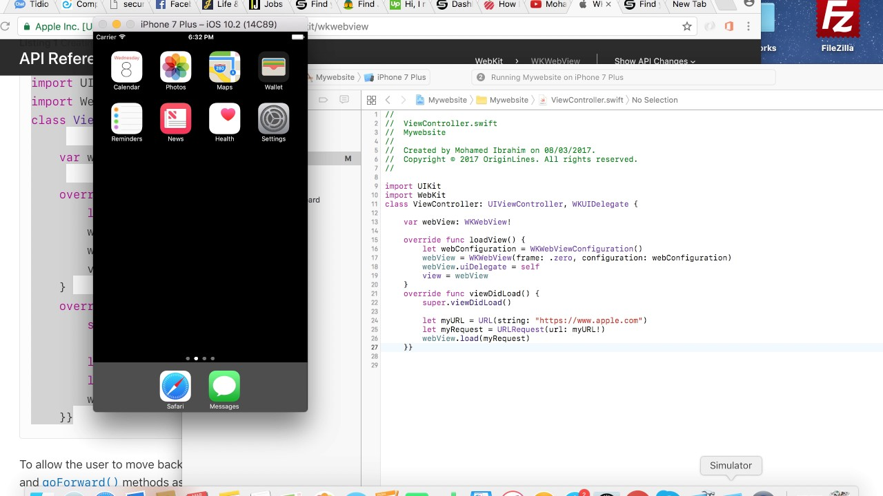 Turn your website or blog into IOS app using Xcode 10 and swift 4.2
