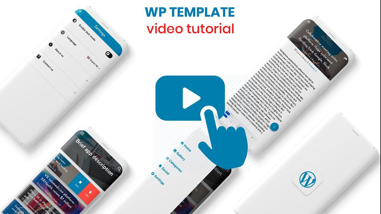 Flutter WordPress App Theme (android template) tutorial